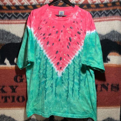 Vintage Liquid Blue Watermelon All Over Print Shir
