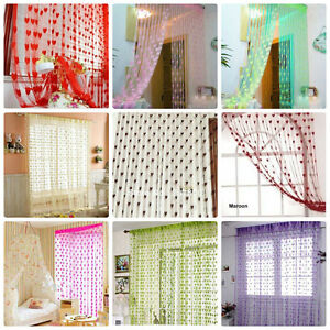 Exporthub Beautiful Fancy Heart Curtain /Net Curtain /Door Curtain/Fancy Curtain