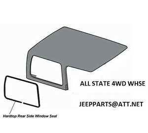 Jeep Hardtop Side 1 4 Quarter Glass Seal Weatherstrip 1976