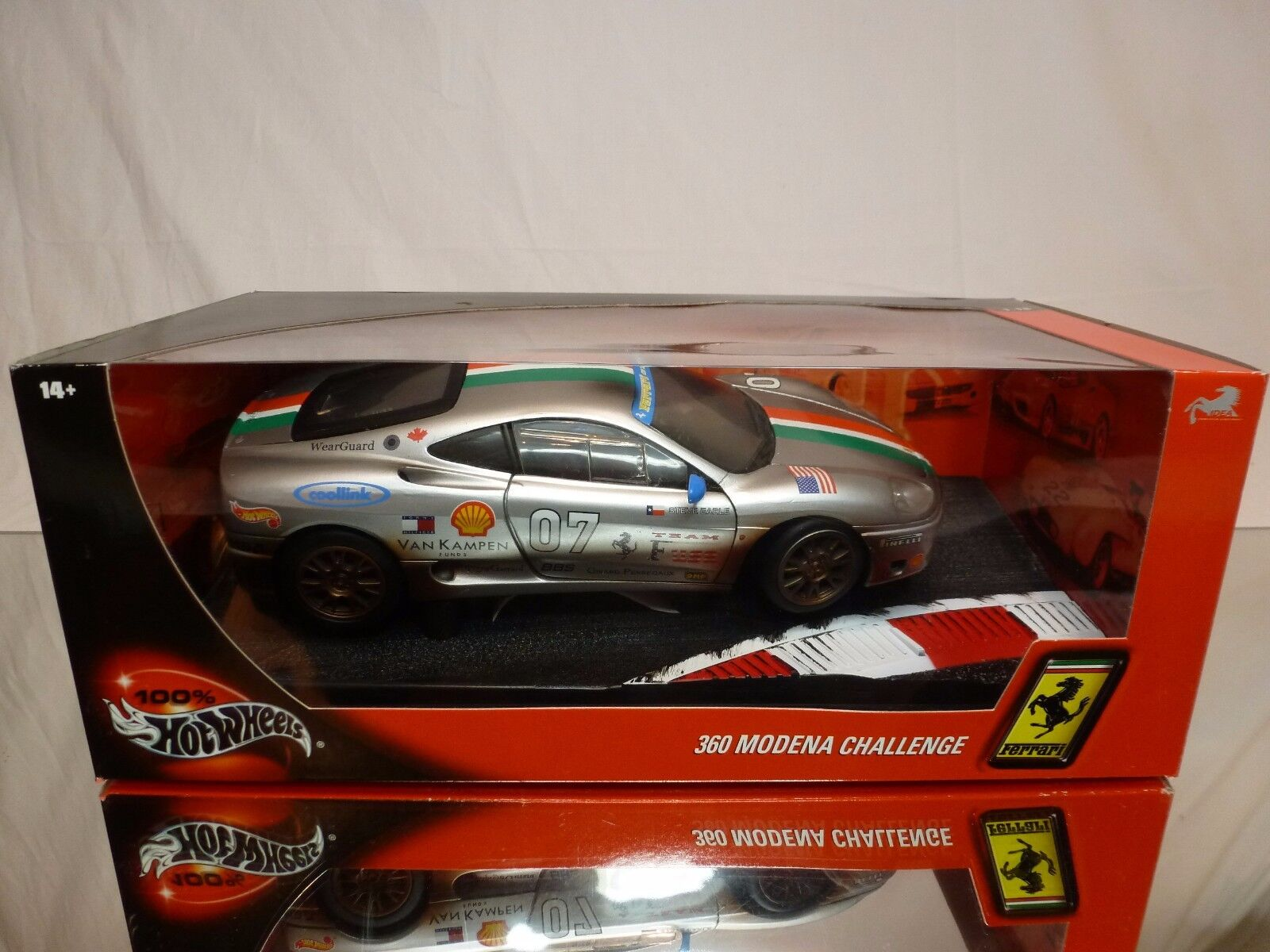 HOT WHEELS 29751 FERRARI 360 MODENA CHALLENGE GREY 1 18 - EXCELLENT IN BOX
