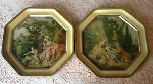 Sunshine Biscuits Octagon Tin 2 Sided Tray Tin Francoise Boucher Paintings