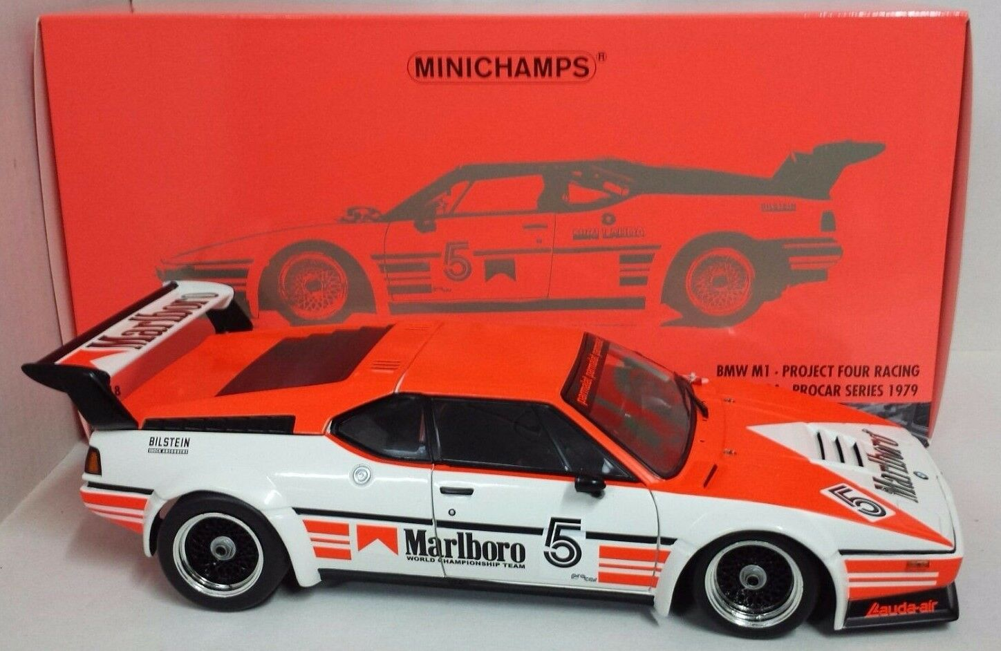 Minichamps 1/18 Niki Lauda BMW M1 Winner PROCAR Series 1979 \