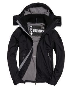 New Mens Superdry Arctic Hooded Cliff Hiker Jacket Black