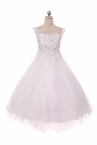 New Blush Pink Princess Flower Girls Dress Pageant Gown Wedding Party Fancy 1708