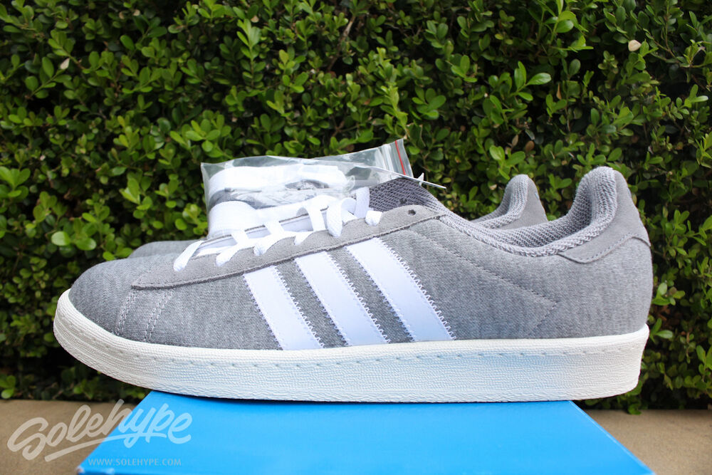 ADIDAS CAMPUS années 80 BW sz 13 BEDWIN AND THE HEART BREAKERS Gris Blanc S75675-