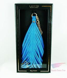 Lauren-Ralph-Lauren-Bag-Purse-Charm-Feather-TA-Shade-BLUE-NAVY-NWT-RP-58