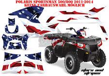 AMR Racing DECORO GRAPHIC KIT ATV POLARIS SPORTSMAN modelli Stars N STRIPES B