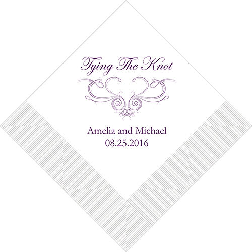 300 Tying the Knot Western Personalized Wedding Luncheon Napkins