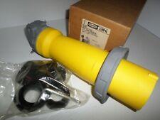 New In Box Hubbell Hbl3100p4w 100 Amp Plug 3100p4w 100a 125vac 2p 3w