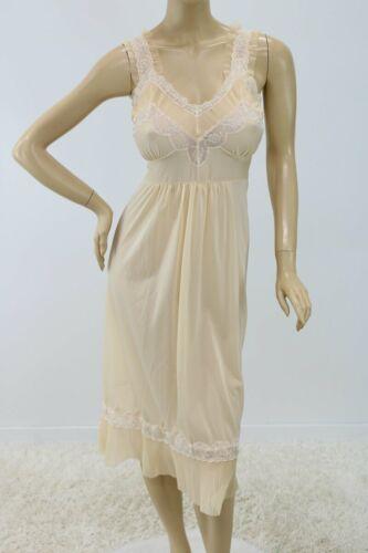 Vintage 1950s nightgown nylon Chiffon Crystal plea