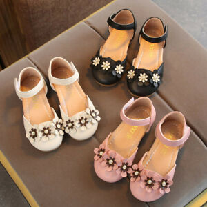 Toddler-Child-Kid-Baby-Girls-Flower-Single-Princess-Leather-Shoes-Casual-Sandals