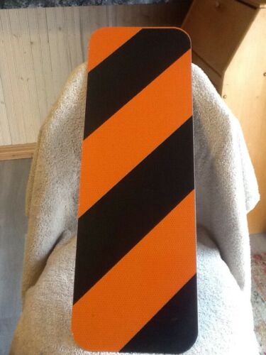 """ALIGNMENT WARNING SIGN ORANGE /& BLACK 8/""""x24/"""" Pre-Drilled Reflective NEW"""