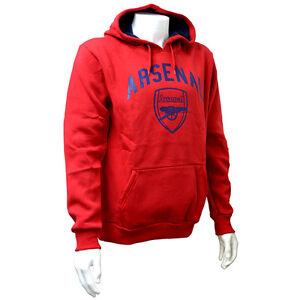 75aa95661 100% Genuine Official Arsenal FC Crest Men's Red Hoody Hoodie ...