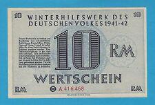 Germany Winterhilfswerk WHW 10 RM 1941-42 S/B-Kroll 404 Block A As Issued