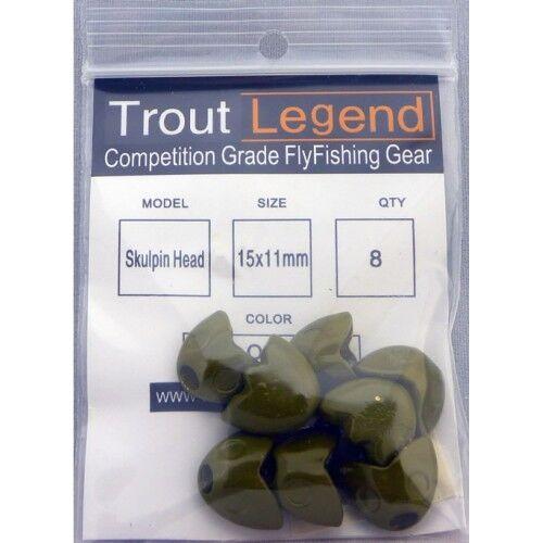 Troutlegend Chabot têtes de poissons Tungstène