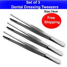 Dental Dressing Tweezers Thumb Grasping Gauze Holding Surgery Picking Pliers