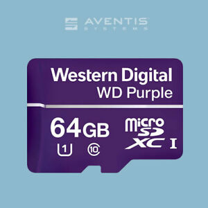 Details about WD Purple 64GB MicroSD Flash Memory Card / 1 Year Warranty
