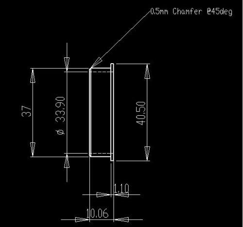 """1-1//4/"""" à 1-1//8/"""" douille réducteur Casque Adaptateur 1.25/"""" 1 1//8 pouces Head Tube"""