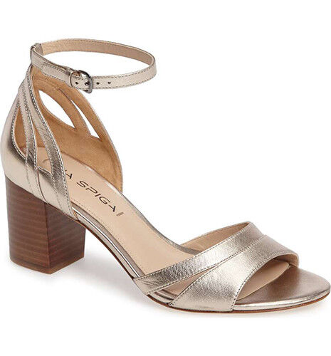 VIA SPIGA metallic christa strappy sandal chaussures