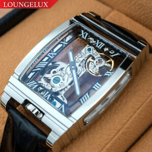 NEW-Mens-Classic-Flywheel-Bridge-Luxury-Skeleton-Mechanical-Leather-Band-Watch
