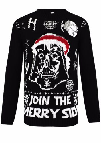 Kids Boys Girls Knitted Xmas STAR WARS Vintage Novelty Christmas Jumper Age 3-12