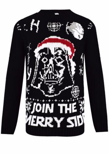 Bambini Ragazzi Ragazze Natale a Maglia Star Wars Vintage Novità Natale Jumper Età 3-12