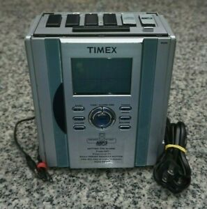 Timex-T626S-Stereo-CD-Clock-AM-FM-Radio-MP3-Line-In-AUX-Tested-Cleaned-Free-Ship