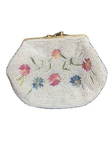 Stunning-Vintage-Beaded-Tambour-Floral-Embroidery-Change-Coin-Purse