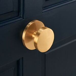 Luxury Modern Circle Solid Brass Exterior Front Door Gold Centre Door Knob 5060535170734 Ebay