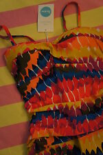 New in Bag, BODEN Sorrento Swimsuit - Multi Feathers - Sz 8 UK - 4 US - RRP £59