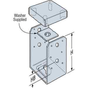Simpson-Strong-Tie-ABU66Z-Post-Base-Deck-Post-Z-Max-Triple-Zinc-Coated
