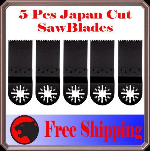 5 Japan Tooth Cut Oscillating Multi Tool Saw Blade For Mastercraft Ridgid Ryobi