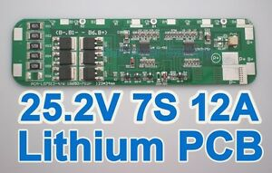 Details about 7S Li-ion Lithium Battery Input Ouput Protection Board PCB  25 2V 25 9V 29 4V BMS