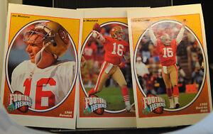 3 1991 Upper Deck Joe Montana Heroes Football Cards 1988 REMATCH