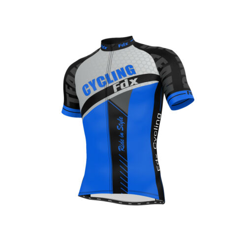 FDX Mens Optimum Cycling Jersey Half sleeve Top Breathable Outdoor Biking TShirt