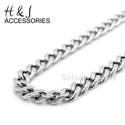 """18-36/""""Stainless Steel 4.5x2mm Silver Cuban Chain Eye of Horus Round Pendant*P92"""
