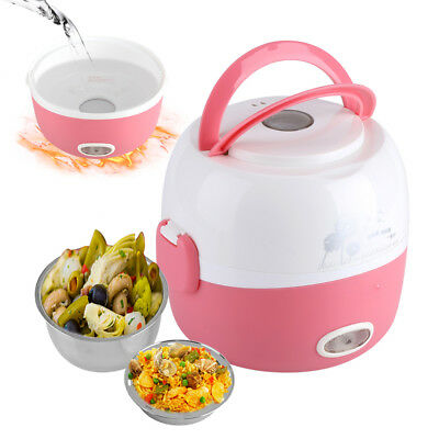 1.3L 220v Elektrischer Reiskocher Portable Mini Steamer Edelstahl Lunchbox