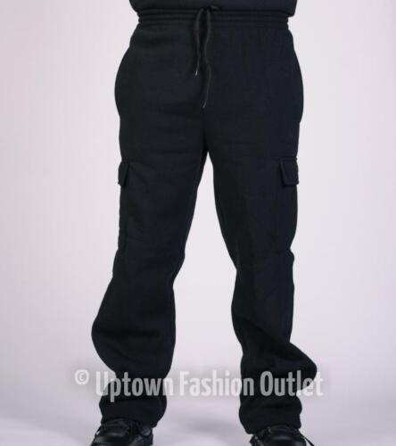 3XL New Men/'s Access Heavy Weight Black Cargo Fleece Jogger Sweat Pants Size L