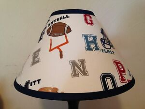 Liam sports fabric childrens lamp shade m2m pottery barn kids image is loading liam sports fabric children 039 s lamp shade aloadofball Image collections