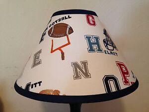 Liam Sports Fabric Lamp Shade M2M Pottery Barn Kids Bedding