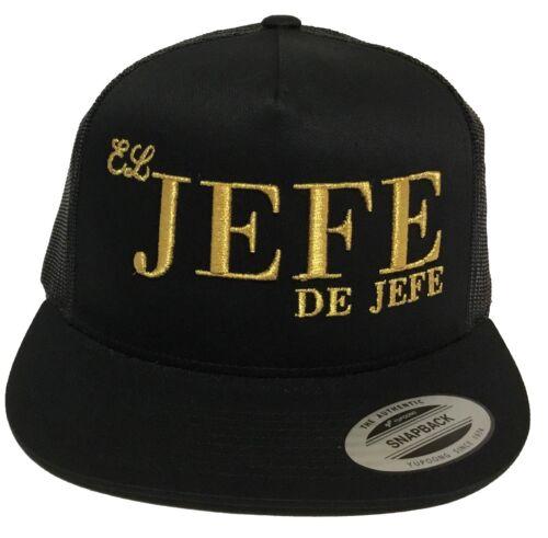 EL JEFE DE JEFES DE GUANAJUATO LOGO FEDERAL MEXICO HAT  2 LOGOS  BLACK MESH