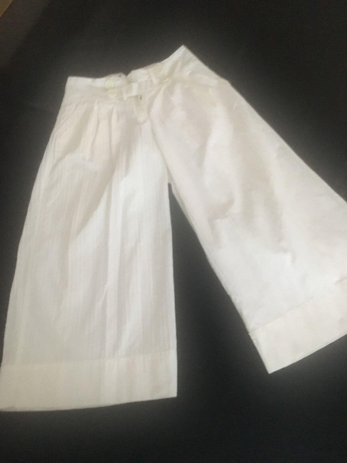 Anthropologie Taikonhu WHITE PANTS 0