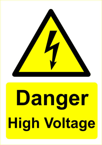Danger Signs Outdoor Plastic Signage or Sticker Different Sizes