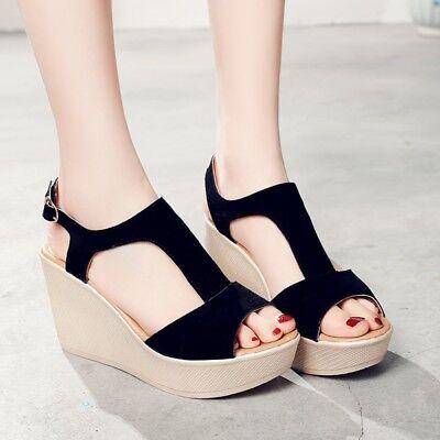 black platform flat shoes