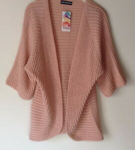 NEW-LADIES-3-4-SLEEVE-OPEN-FRONT-LIGHT-WEIGHT-KNIT-CARDIGAN-COVER-UP-8-COLOURS