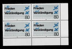 Bund Brd Minr 1231 Cachet ** Groupe Bloc Coin 4-afficher Le Titre D'origine Faire Sentir à La Facilité Et éNergique
