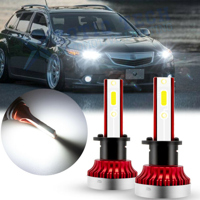 LED Headlight Bulbs High Beam 6000K Kit For ACURA TSX 2004