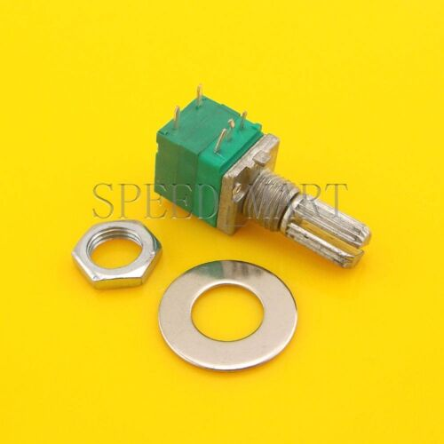10pcs B10K Audio Amplifier Sealed Potentiometer 15mm Shaft 5pins with switch