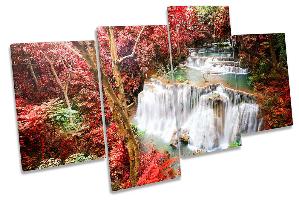 rot Tropical Landscape Picture MULTI CANVAS WALL ART Print