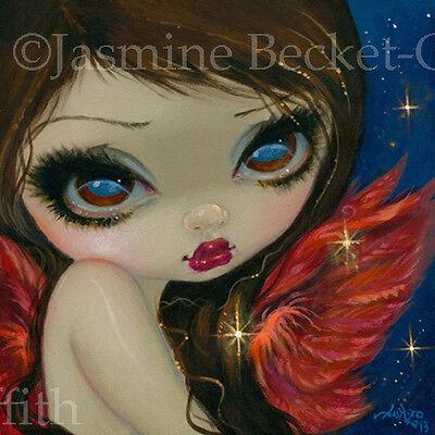 Fairy Faces 210 Jasmine Becket-Griffith art faery star angel SIGNED 6x6 PRINT